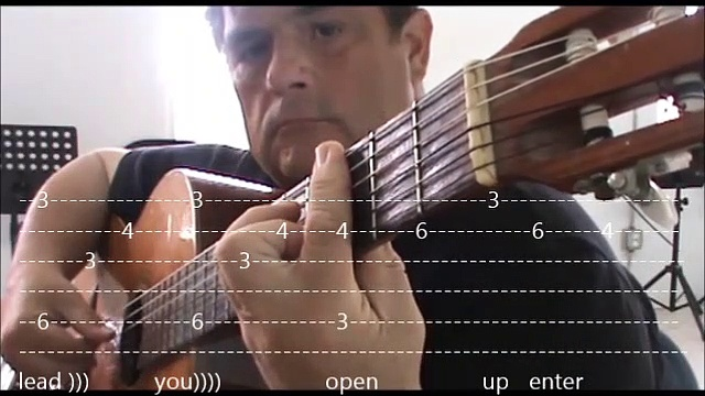 memory guitar with tabs in video