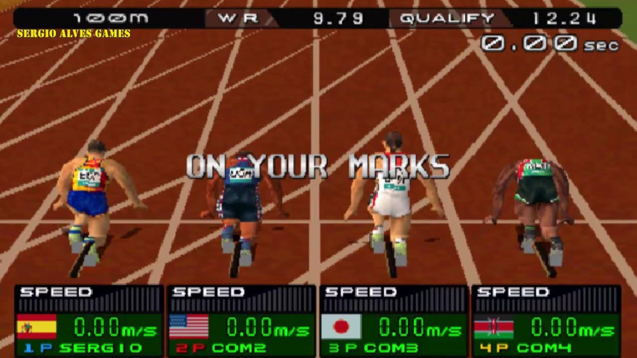 INTERNATIONAL TRACK  FIELD 2000 – GAMEPLAY  (PS1)