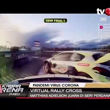 Mattias Adielson Juara Seri Pertama Virtual Rally Cross