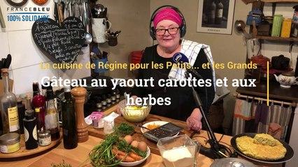 La recette du gâteau au yaourt carottes et aux herbes de Régine