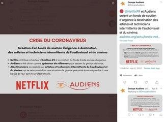 Intermittents de l'audiovisuel : un fonds d'aide créé par Netflix et Audiens