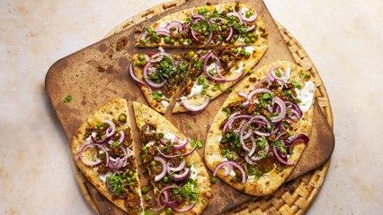 Lamb Naan Pizza