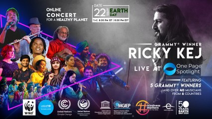 Ricky Kej LIVE at One Page Spotlight #ShineYourLight #StayHomeConcert (Grammy Winner)