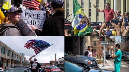 Zapping. Brésil, États-Unis : les images des manifestations anticonfinement