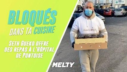 Bloqués : Seth Gueko qui offre des repas à l'Hôpital de Pontoise