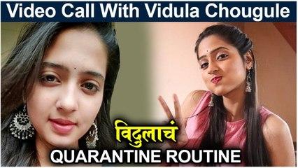 VIDEO CALL Interview With Vidula Chaugule विदुलाचं Quarantine Routine