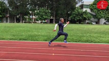 禿鷹老頭跑步、拉單槓、雙環 》20190701拍攝