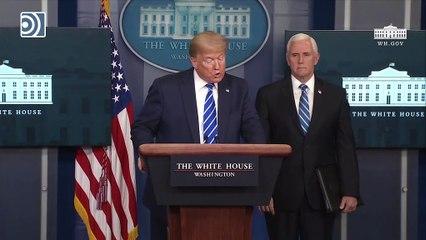 """Trump sugiere tratar el coronavirus con """"una inyección"""" de """"desinfectante"""" o con """"luz solar"""""""