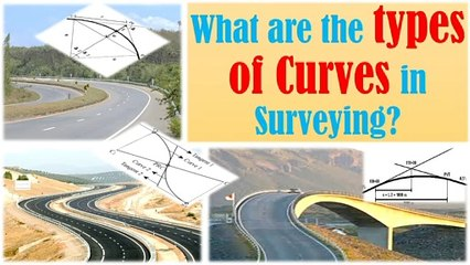 What are the types of curves in surveying