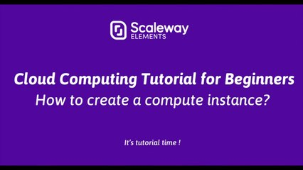 Quick Cloud Computing Tutorial for Beginners | How to create a compute instance ?