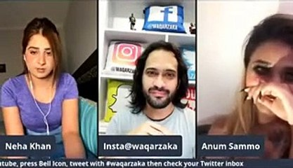 Waqar Zaka Headphone Show - Anum Vs Neha Dancer _ Filler Lips _ Source of Income kiya hai