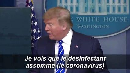 Covid-19 : Trump suggère une injection de désinfectant dans le corps des malades