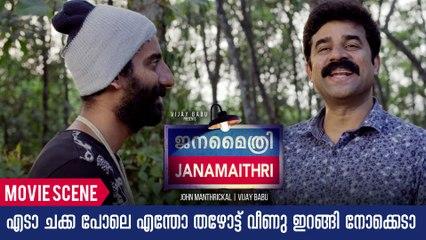 എടാ ചക്ക പോലെ എന്തോ താഴോട്ട് വീണു ഇറങ്ങി നോക്കെടാ | Janamaithri Movie Comedy Scene | Indrans