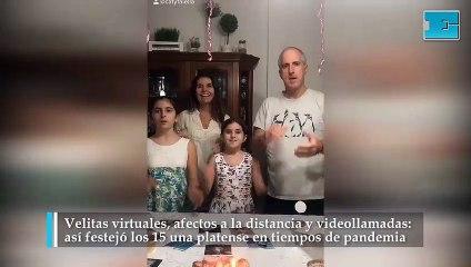 Una platense cumplió 15 en plena pandemia y lo festejó con un divertido video que se hizo viral