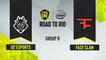 CSGO - G2 Esports vs. FaZe Clan [Mirage] Map 1 - ESL One Road to Rio - Group B - EU