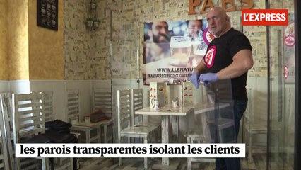 Déconfinement : en Espagne, des parois pour séparer les clients dans les bars