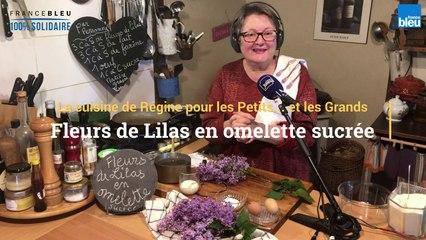 Recette de fleurs de lilas en omelette sucrée de Régine