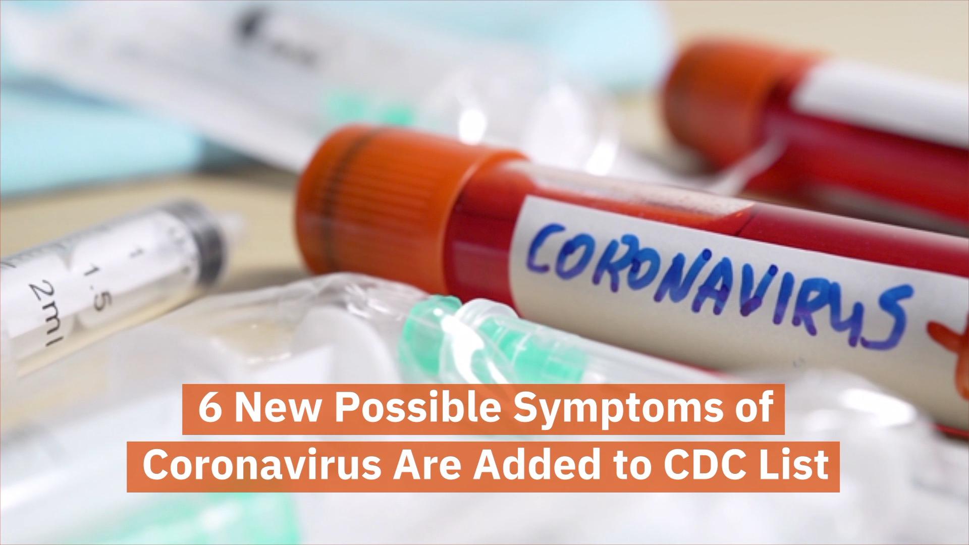 CDC Lists New Covid-19 Symptoms