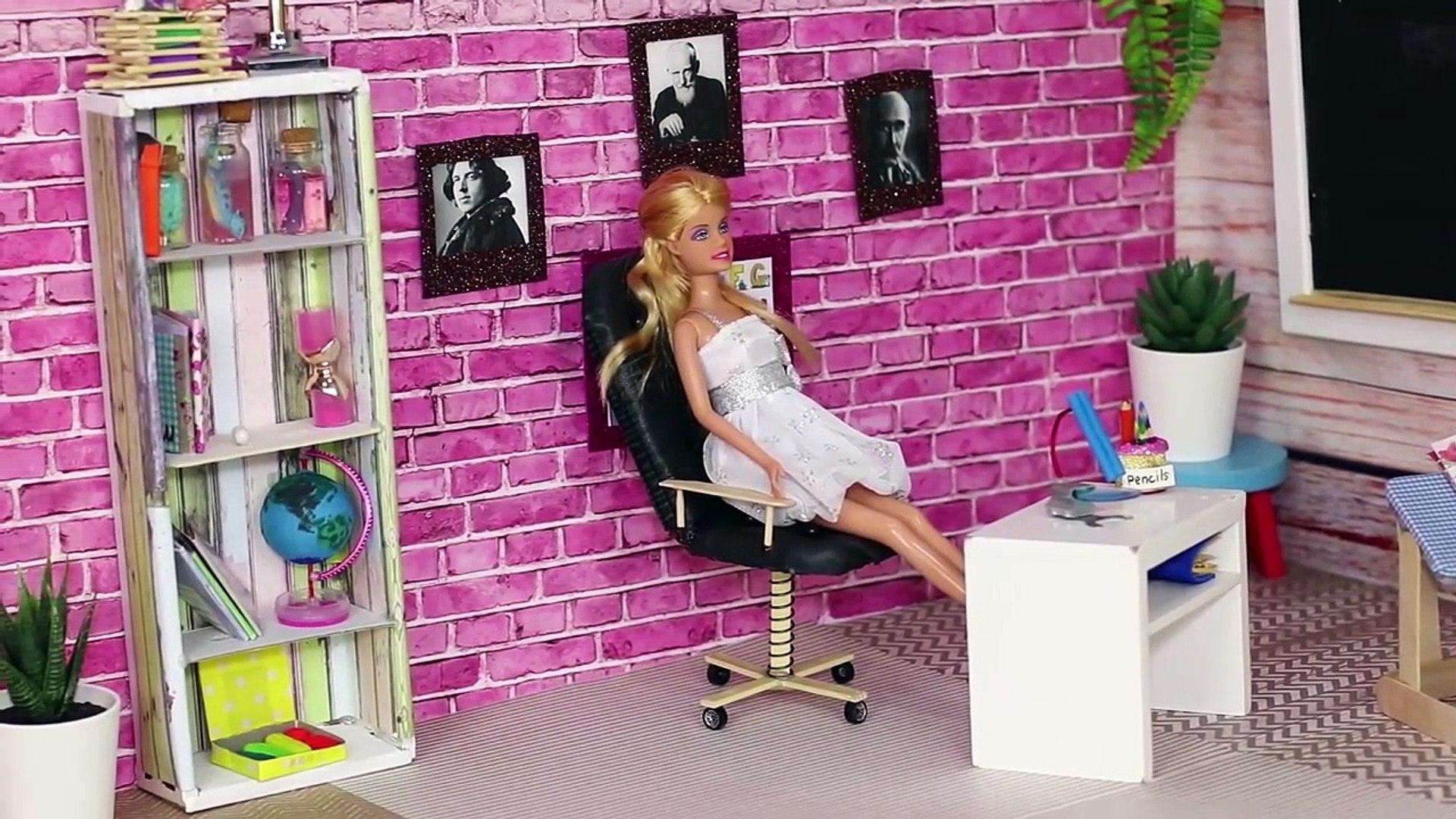 Miniaturas Para Muñecas 13 Artesanías Y útiles Escolares Para Barbie Vídeo Dailymotion
