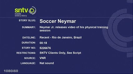 Neymar Jr. releases video of his physical training session