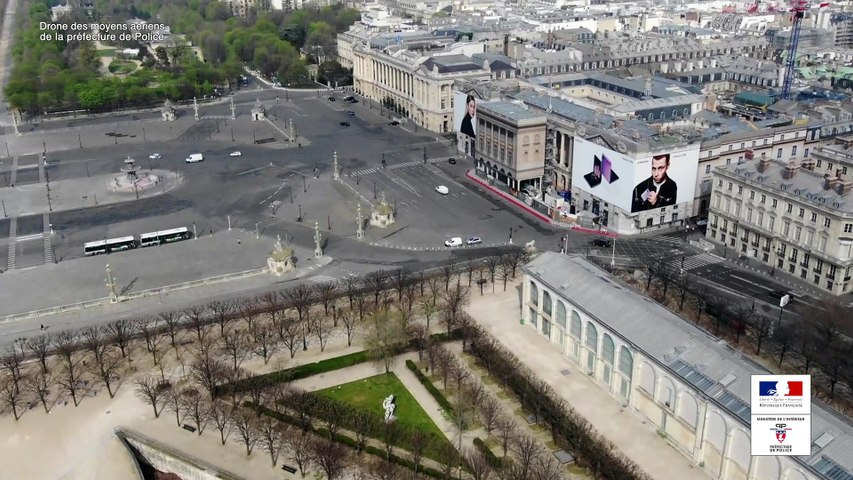Paris confiné vu du ciel - Épisode 3 : La Tour Eiffel, la Concorde et la Seine
