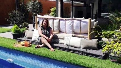 #MiTrucoEnCasa: Paula Duarte te da ideas para estar cómodo en la zona de la piscina