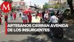 Artesanos indígenas protestan en CdMx; exigen apoyo económico por covid-19