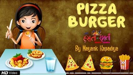 Pizza Burger | Kids Rhyme with Lyrics | English Children Nursery Rhyme | Mehul Surti | Kids Fun Song