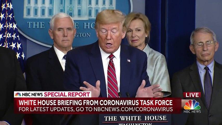 Trump Berates Peter Alexander Over Coronavirus Question - 'You're A Terrible Reporter'   News