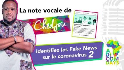 La note vocale de Chedjou #2 : Identifiez les Fake News sur le coronavirus