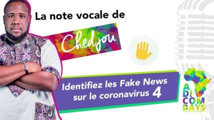 La note vocale de Chedjou #4 : Identifiez les Fake News sur le coronavirus