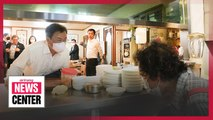 President Moon encourages people to use local restaurants while maintaining social distancing