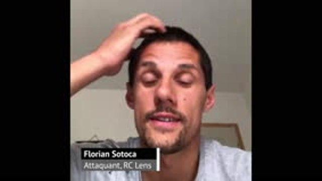 Florian Sotoca passe un message aux supporters lensois
