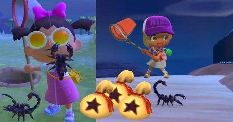 Animal Crossing New Horizons  voici comment attraper un scorpion