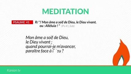 """Psaume 41 : """"Mon âme a soif de Dieu,le Dieu vivant. / Alléluia"""""""