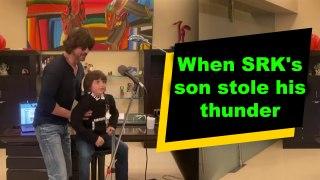 When SRK's son stole his thunder