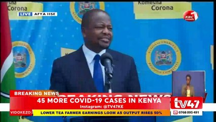 COVID-19: Kenya records 45 new cases as 9 recover