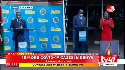 Kenya records highest Covid-19 infections at 45 as Eastleigh leads with 29