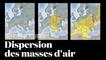 Incendies de Tchernobyl : modélisation de la dispersion des masses d'air en Europe par l'IRSN