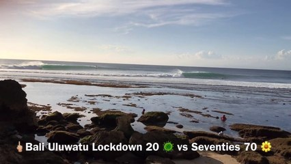 Bali Uluwatu Lockdown / Confinement 2020 vs 1970