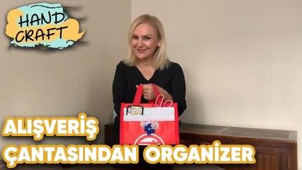 Alışveriş Çantasından Organizer Yapımı   How to make bag organizer?   Handcraft TV Zeliha Sunal