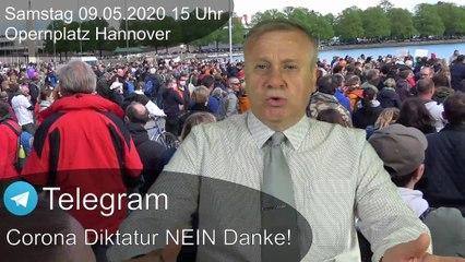 Hannover 09.05.2020 Opernplatz, Demo gegen Corona Diktatur