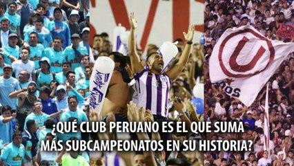LOS 5 CLUBES PERUANOS CON MÁS SUBCAMPEONATOS EN LA HISTORIA