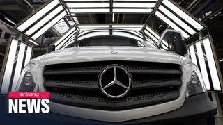 S. Korea to fine Mercedes Benz US $63 mil. for emissions rigging, marking industry's largest financi