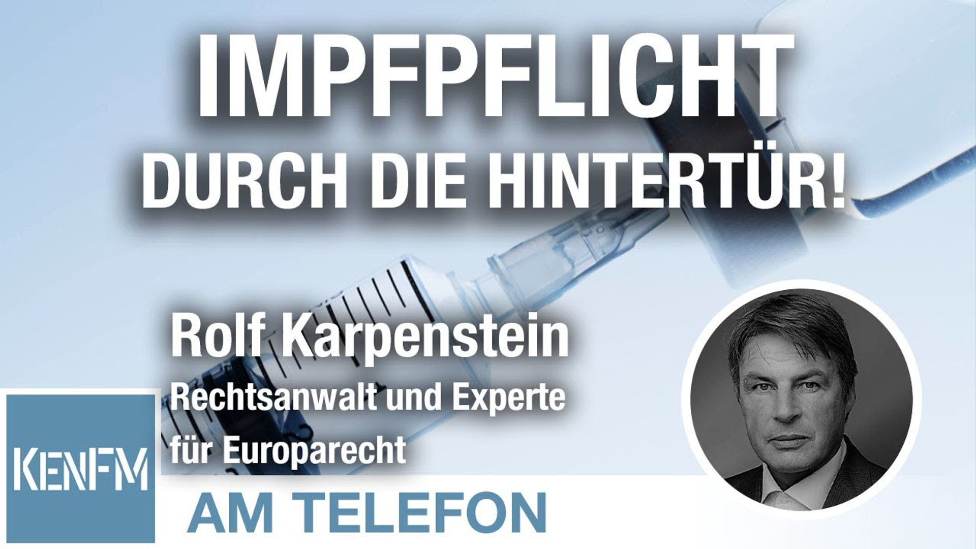 Am Telefon zur Impfpflicht durch die Hintertür: Rolf Karpenstein