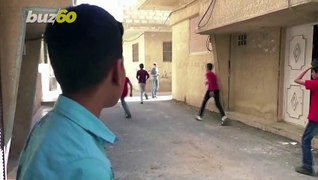 Syrian Boy Aspires to Be Commentator by Providing Commentary Through Street Games!