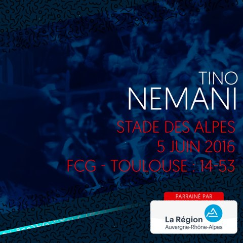 Video : Video - L'essai de Tino Nemani contre Toulouse en 2016