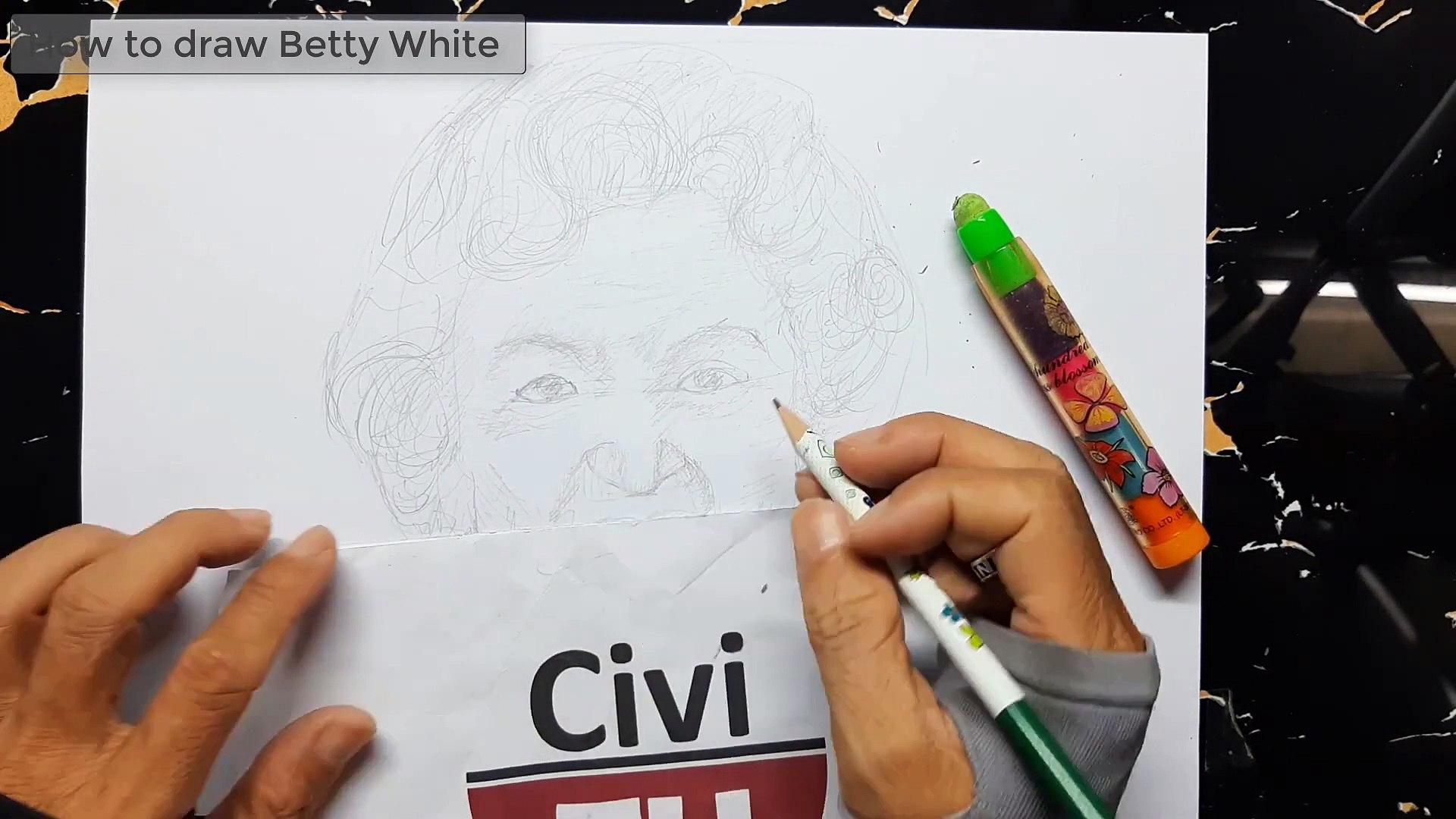 Betty White Draw -