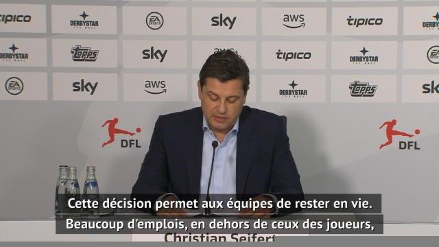 "Bundesliga - Seifert : ""Beaucoup d'emplois ont été sauvés"""