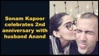 Sonam Kapoor celebrates 2nd anniversary with husband Anand